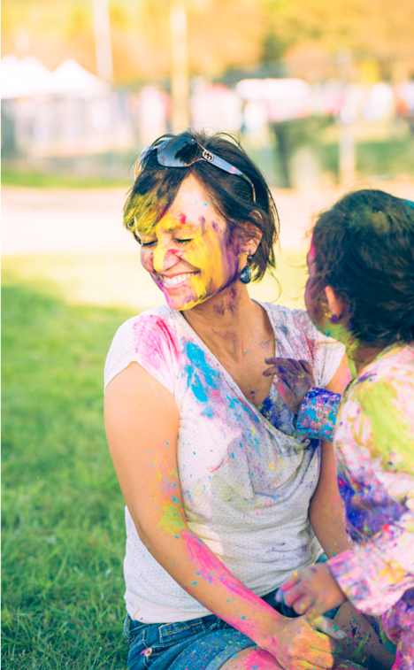 Family Photos Idea - Bay Area Family Portrait Photography with Holi Colours