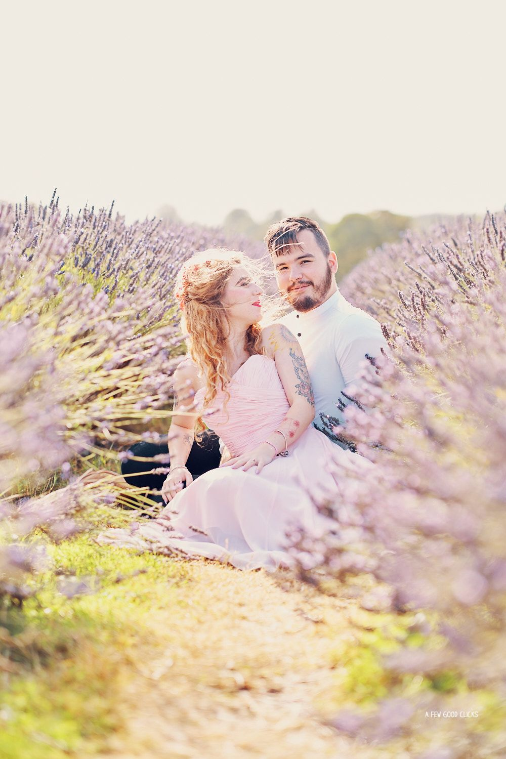 Dreamy Lavender Fields Location For Engagement Photo Shoot